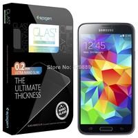 0.2mm Spigen Galaxy S5 Screen Protector GLAS.t NANO SLIM Tempered Glass For Samsung Galaxy S5