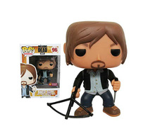 (sold out) Free shipping NEW 2014 FUNKO POP 6 inch Q Edition walking dead Biker Daryl new box  for Car Decoration