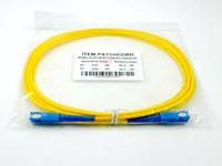free shipping sc upc sm 9/125 sx 3.0 pvc 3m fiber optic patch cord