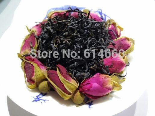 250G Organic Rose Flower Tea Black tea Keemun black teaSecret Gift Free shipping