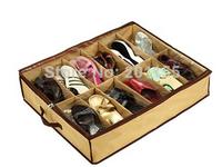 Closet Organizer Under Bed Storage Holder shoe Box Container Case Storer 12 cell