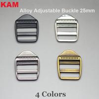 4 Colors  KAM 25 mm Alloy Metal  Release Security Buckle Bag Accessory Garment Adjustable Buckle Bracelets
