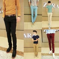 Drop saling Black slacks feet new spring 2014 men's fashion Slim casual pants casual pants male personality
