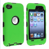 Soft and Hard Hybrid Impact Case for ipod touch4 Dustproof Drop Resistance With Free Shipping