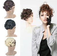 Free Shipping Sexy Wavy Front Bang Hair Bang Extension Clip In Hair Bang Synthetic Hair Bang Hair Fringe For Women