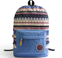 2014 New High Quality Canvas Women Girls  Christmas Snowflakes Printing Backpack,Vintage School Bag/Travel Casual Bags-4 Colors
