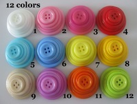 2014 Limited Sewing Nb037 Scrapbook Craft Buttons 360pcs (mix 12 Colors,6 Sizes:12.5mm/15mm/20mm/23mm/25mm/30mm) 4 Hole Plastic