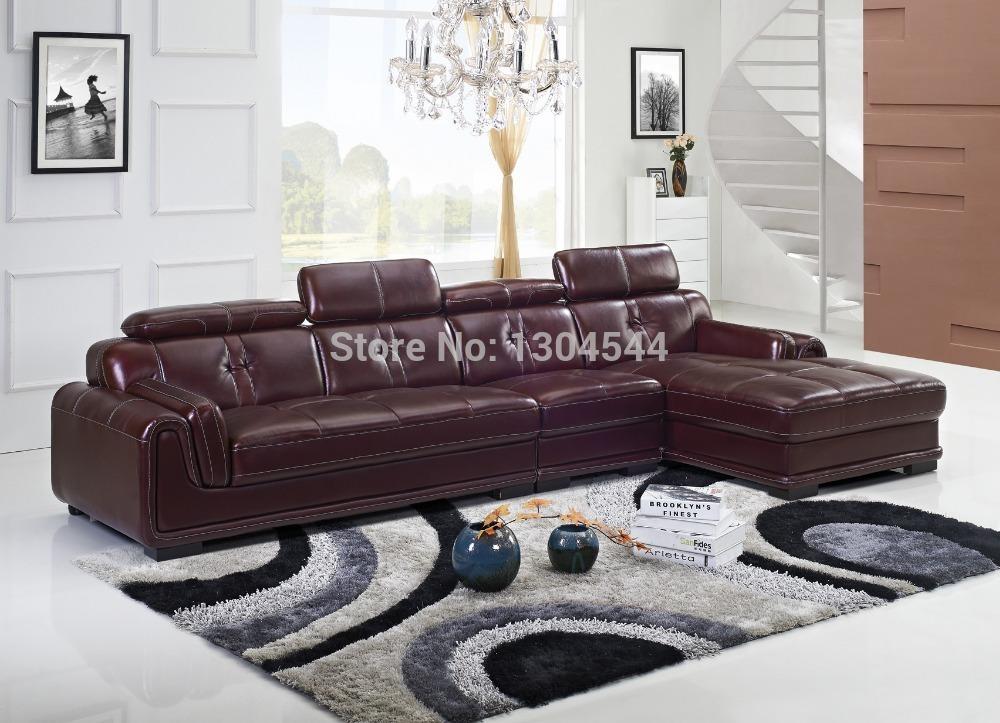 Corner divano in pelle divani angolari l p2168 divano ad - Divano ad angolo in pelle ...