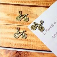 47a bike design  diy necklace bracelet component  100pcs/lot   16*14MM pendants alloy  lucky Charms  Jewelry Findings