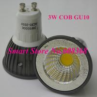 10pcs Free Shipping COB LED 3W/5W GU10  LED Spotlight CE RoHS 110V/220V/230V/240V 3W Spot Lamp 240V GU10