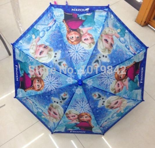 3 Styles Children Frozen Umbrella Creative Cartoon Girls And Boys Umbrella Candy Colored Frozen 68CM Long Handle Umbrella(China (Mainland))