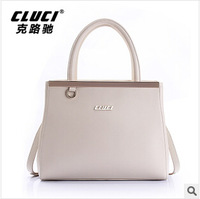 Europe style OL business hand handbag for woman real leather shoulder diagonal package woman's bags