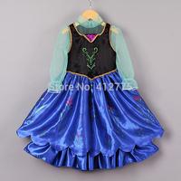 Retailer 2014 Frozen Anna Dress New Model Frozen Girl Dress Anna Princess Party Dress  2-10 Years Kids Clothes 100% Real Photo