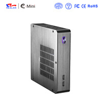 Realan Aluminum Mini ITX  Case E-U3 Slim HTPC Desktop Computer Without CPU