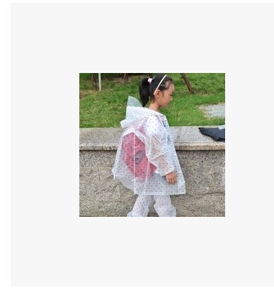 2014 Four Seasons Fashion Children Students Rainwear Set EVA Semitransparent Raincoats With Rain-proof PantsColor Random(China (Mainland))