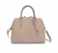 Solid color shoulder bags beige for woman 2014 new woman's pu leather handbags casual bag 4 colors