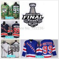 2014 free shipping Stanley Cup Finals Patch New York Rangers #99 Wayne Gretzky ice hockey jersey/shirt/Sportswear