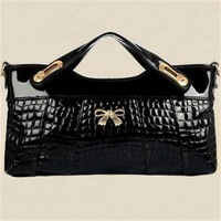 2014 new style popular female clutch fashion design women handbag hot leather shoulder bag crocodile pattern women messenger bag