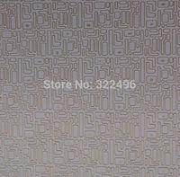 fabric Synthetic PU material tecido com brilho decorating maze patterns