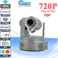 Neo coolcam 720P HD Wifi IP Camera Wireless Megapixel P2P PTZ Cameras CCTV SD card And WPS Dual Video Scream Push Notification