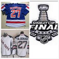 2014 cheap free shipping Stanley Cup Finals Patch New York Rangers 27 Ryan McDonagh ice hockey jersey/shirt/sportswear