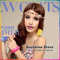 Sunshine store #8z033 26pcs/lot 13 color wedding hair accessories for women fascinators ribbon flower headband dress Photo props