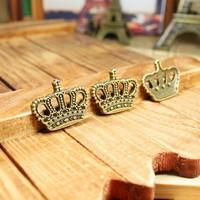45retro design crown  shape diy necklace bracelet component  20pcs/lot 28*22MM  pendants alloy lucky Charms Jewelry Findings