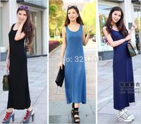 2014European and American Big yards Detonation model modal h Vest skirt Sweep the floor dress Condole belt The skirt Long skirt
