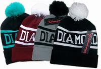 Diamond Knitted skullies wool cap for women top quality hip hop street fashion Beanie letter caps men autumn winter retail