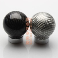 Free Shipping Hot Car Carbon Fiber Shift Knob / MOMO personalized head gear shift lever manual and automatic conversion