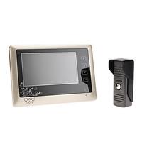 7 inch TFT LCD Monitor Color Video Door Phone Doorbell Home Intercom System