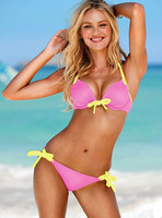 2014 New  Vintage Bikini Women Fashion Sexy Swimsuit Beachwear 1set/lot Free Shipping