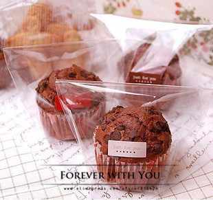 2014 FREE SHIPPING transparent plastic gift bags for candy packaging wedding bakery food bag 10*7+4 cm 100pcs/lot(China (Mainland))