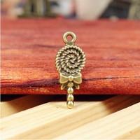 53 lollipop  design diy necklace bracelet component 20pcs/lot  31.5*13MM pendants alloy  lucky Charms  Jewelry Findings