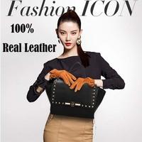 women leather handbags rivet bag women messenger bags high quality shoulder bag women famous brands women's handbag 0435