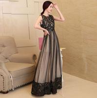2014 New fashion summer long tank dress women's sleeveless pu patchwork long floor dress plus size lace cutout dress black,beige