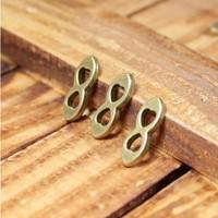 65 8 shape  design diy necklace bracelet component  100pcs/lot 16.5*5.5MM    pendants alloy  lucky Charms  Jewelry Findings