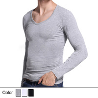 2014 Spring Autumn Winter Thin Men Thermal Underwear Modal Close Hot Long Johns for Men(only shirts,no pants)-Free Shipping