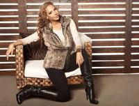 atacadista de roupas femininas casacos de inverno peles artificiais  women's fur faux fur vest outerwear lengthen