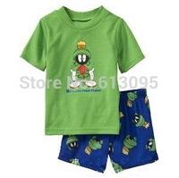 Wholesale baby boys girls  Pure Cotton Short sleeve T-shirt + shorts Suit /clothing sets 6pcs/lot