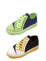 Free Dhipping Hot Sale 2014 New Fashion White Green 2Colors Women Canvas Shoes Women Sneakers For Summer Spring Autumn