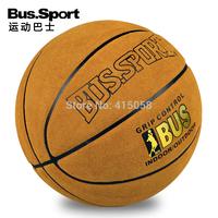 Basketball outdoor basketball genuine cowhide leather basketball bus . sport cement basketball lanqiu