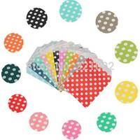 200pcs polka dots colorful Favor Paper Bag, Striped Party Gift Bag Dessert Food Bag Wedding, Packaging