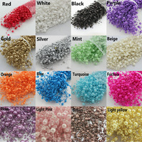 free shipping 80pcs Pearl String Garland Bridal Beads Wedding bouquet flowers Decor you pick up the colour