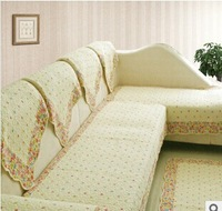 Free shipping, pastoral style sofa sets, fashion lace, cotton quilting fabric sofa sets, sofa slip mats, sofa towel