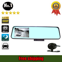 wholesale car dvr Camera Recorder Super wide angle FULL hd 1920*1080p night vision  Dual Lens  FREE SHIPPING
