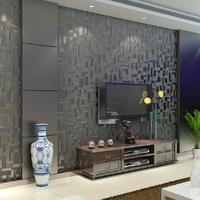 0.53*10m/roll Fashion Super High Quality 3D Mosaic Waterproof Non-woven Wallpaper, Free shipping