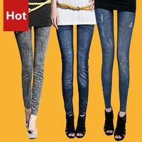 New!! Jeans Pant Silm Legs Spring 2014 Leggings For Women Legging Fashion Leggings Sport Leggins Summer Girl Capri Pants