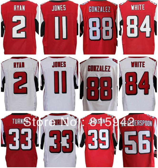 Retail wholesale Mens #11 Julio Jones #84 Roddy White etc falcons white black red jerseys cheap(China (Mainland))