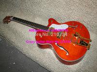 Wholesale -Orange Falcon 6120 Jazz Guitar Gold Hardware High Quality Musical instruments Wholesale